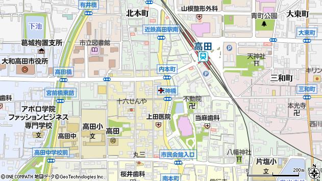 奈良県大和高田市内本町6周辺の地図