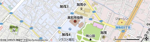 大阪府高石市周辺の地図