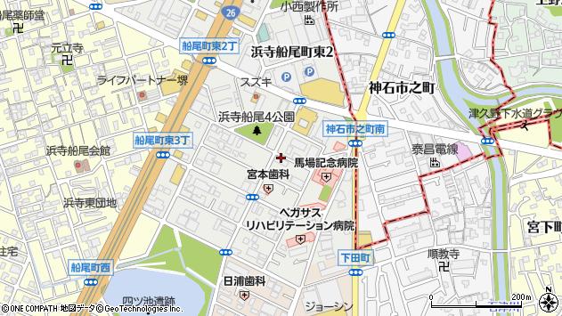 大阪府堺市西区浜寺船尾町東3丁周辺の地図