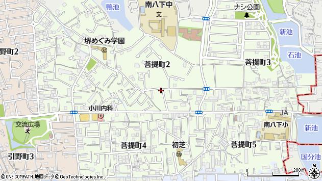 大阪府堺市東区菩提町2丁周辺の地図