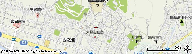 岡山県倉敷市連島町西之浦周辺の地図