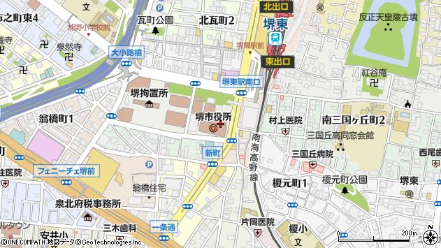 堺市周辺の地図