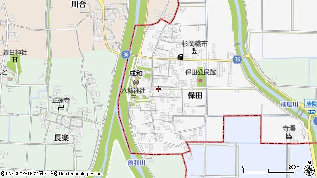 奈良県磯城郡川西町保田周辺の地図