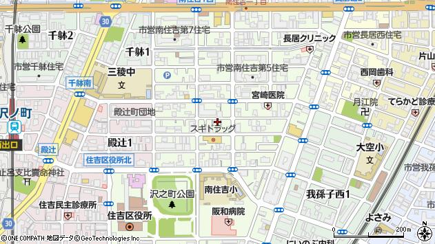 大阪府大阪市住吉区南住吉周辺の地図