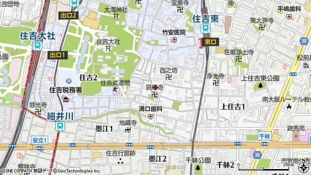 大阪府大阪市住吉区上住吉 地図(住所一覧から検索) :マピオン