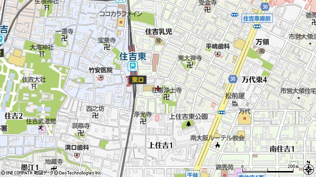 大阪府大阪市住吉区帝塚山東5丁目周辺の地図