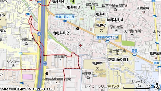 大阪府八尾市南亀井町1丁目3-21 住所一覧から地図を検索