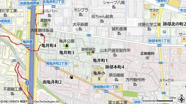 大阪府八尾市亀井町1丁目1-20 住所一覧から地図を検索
