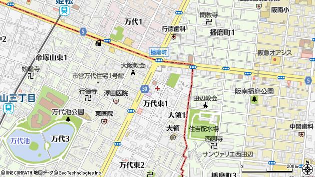 大阪府大阪市住吉区万代東 地図(住所一覧から検索) :マピオン