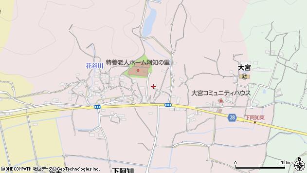 岡山県岡山市東区下阿知周辺の地図