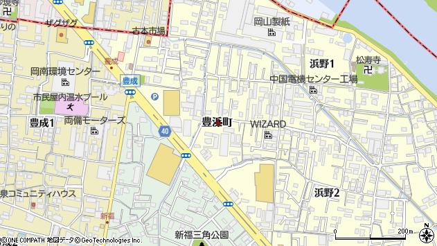 岡山県岡山市南区豊浜町周辺の地図