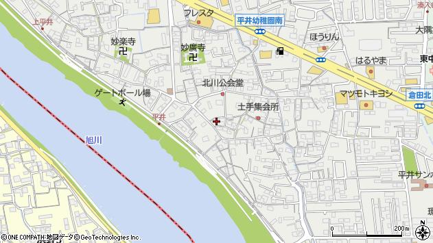 岡山県岡山市中区平井周辺の地図