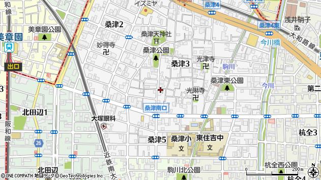 大阪府大阪市東住吉区桑津3丁目 地図(住所一覧から検索 ...