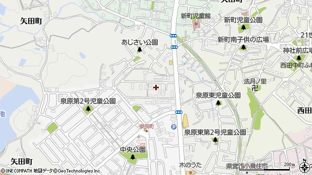 奈良県大和郡山市矢田町周辺の地図