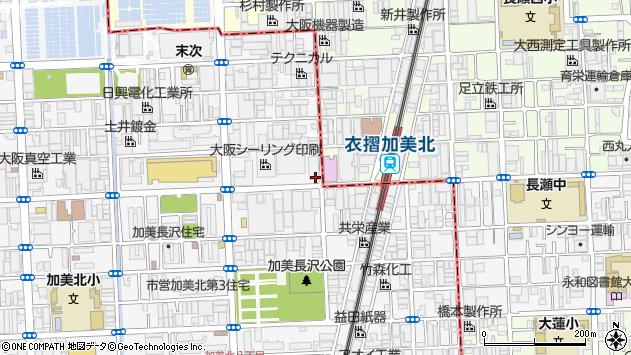 大阪府大阪市平野区加美北5丁目8-23周辺の地図
