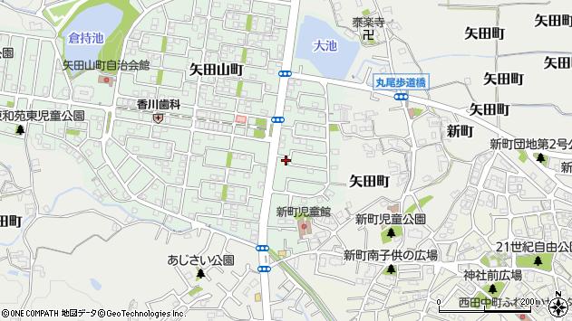 奈良県大和郡山市矢田山町周辺の地図