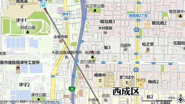 大阪府大阪市西成区旭3丁目8-13 地図(住所一覧から検索 ...