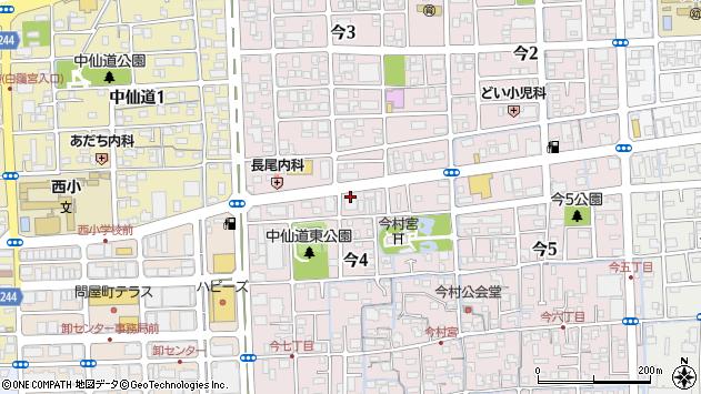 岡山県岡山市北区今4丁目周辺の地図