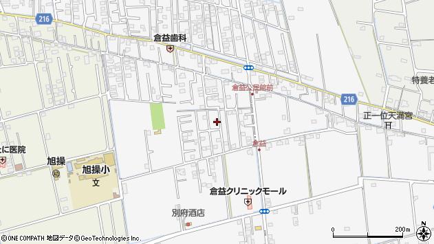 岡山県岡山市中区倉益周辺の地図
