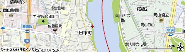 岡山県岡山市北区二日市町周辺の地図
