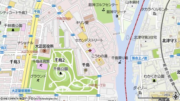大阪府大阪市大正区千島1丁目23周辺の地図