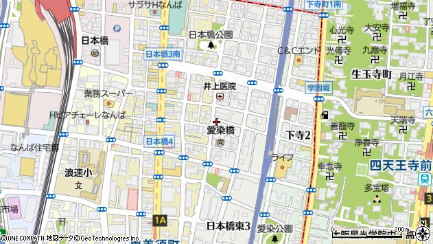 大阪府大阪市浪速区日本橋東2丁目周辺の地図