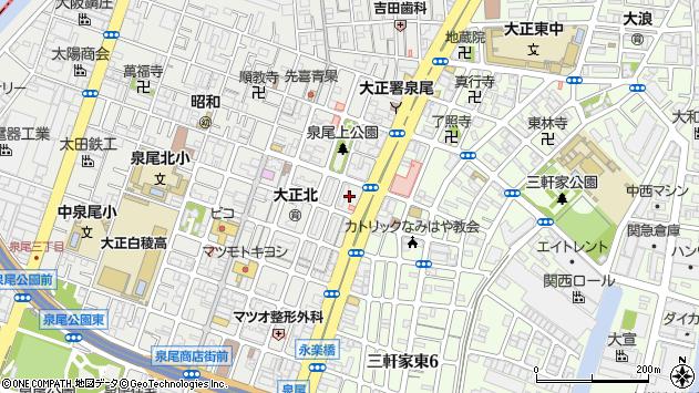 大阪府大阪市大正区泉尾2丁目1周辺の地図