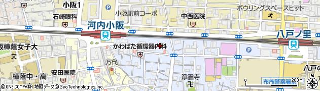 大阪府東大阪市下小阪1丁目2-7周辺の地図