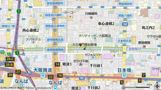 大阪府大阪市中央区宗右衛門町7-12周辺の地図