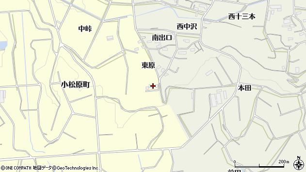 愛知県豊橋市小松原町東原周辺の地図