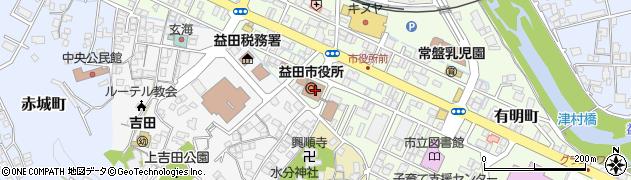 島根県益田市周辺の地図