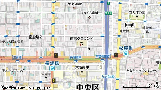 大阪府大阪市中央区南船場1丁目周辺の地図