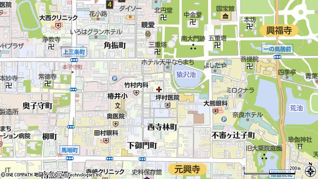 奈良県奈良市元林院町32周辺の地図