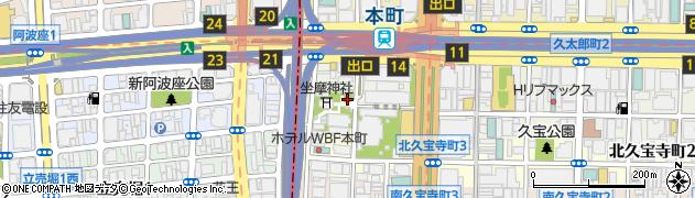 大阪府大阪市中央区久太郎町4丁目周辺の地図
