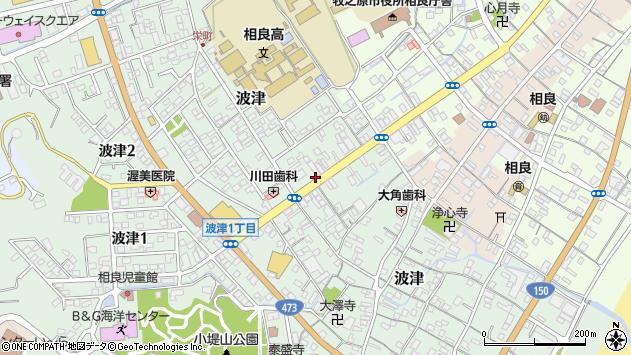 静岡県牧之原市波津周辺の地図