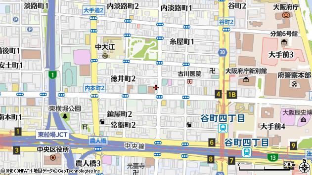 大阪府大阪市中央区内本町2丁目1-2周辺の地図