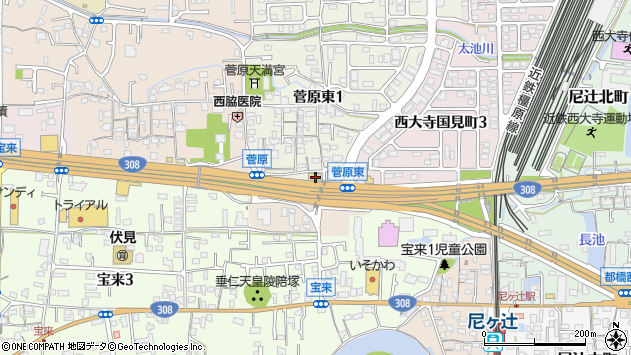 奈良県奈良市菅原町19周辺の地図