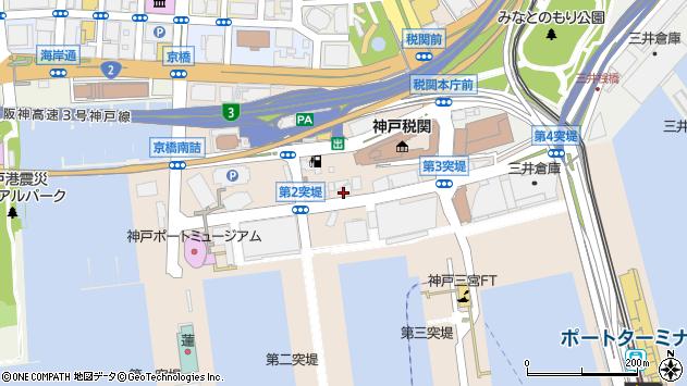 兵庫県神戸市中央区新港町周辺の地図