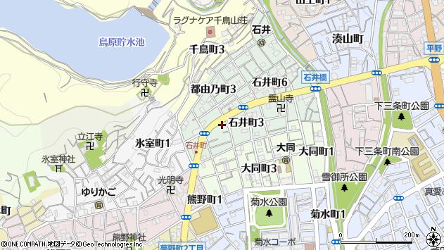兵庫県神戸市兵庫区石井町周辺の地図