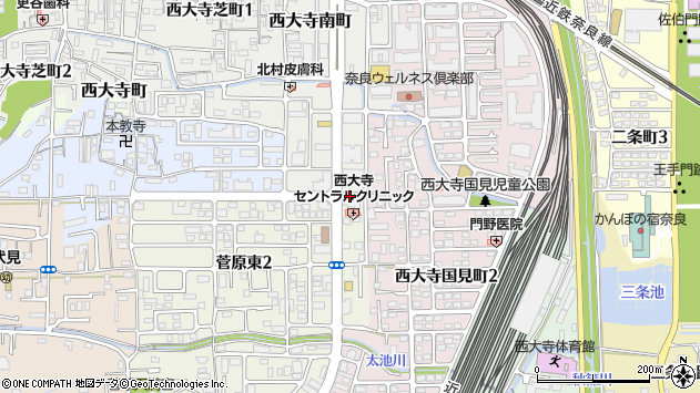 奈良県奈良市菅原町37周辺の地図