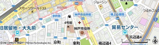 神戸市周辺の地図