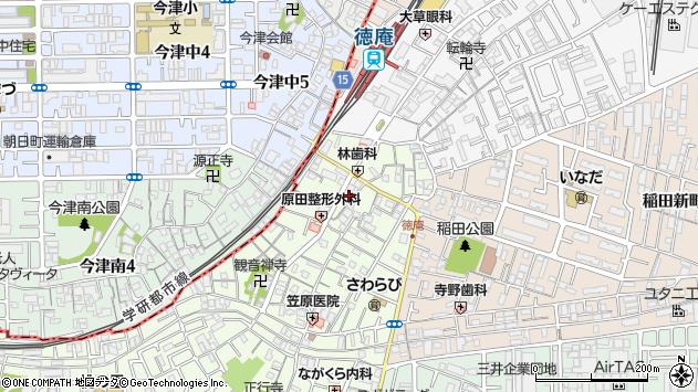 大阪府東大阪市稲田本町3丁目周辺の地図