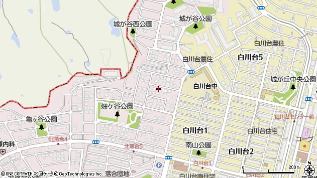 兵庫県神戸市須磨区北落合5丁目周辺の地図