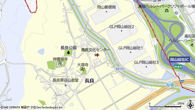 岡山県総社市長良周辺の地図