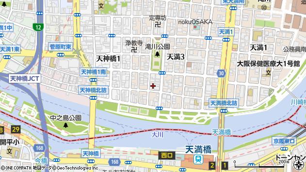 大阪府大阪市北区天満4丁目周辺の地図