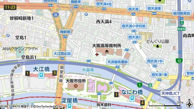 大阪府大阪市北区西天満2丁目周辺の地図