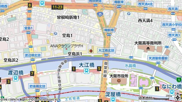 大阪府大阪市北区堂島浜周辺の地図