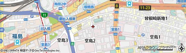 大阪府大阪市北区堂島2丁目2-22周辺の地図