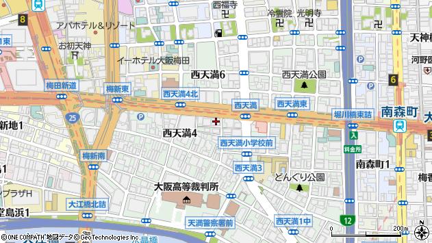 大阪府大阪市北区西天満4丁目4-18周辺の地図