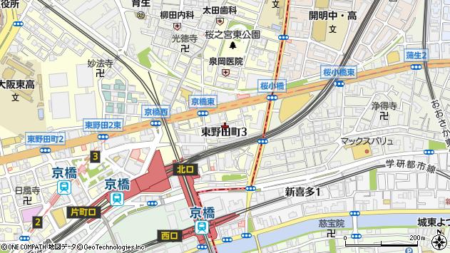 大阪府大阪市都島区東野田町3丁目7-8周辺の地図